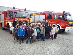 Abenteuer:Sprachwerkstatt Winter 2013, Besuch bei der Feuerwehr